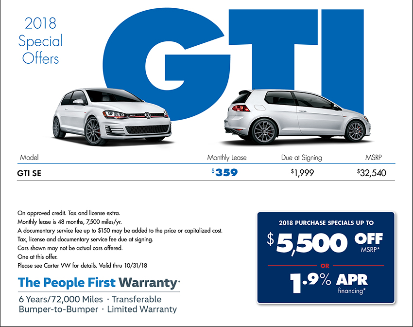 Cheap Vw Golf Gti Lease Deals Lamoureph Blog