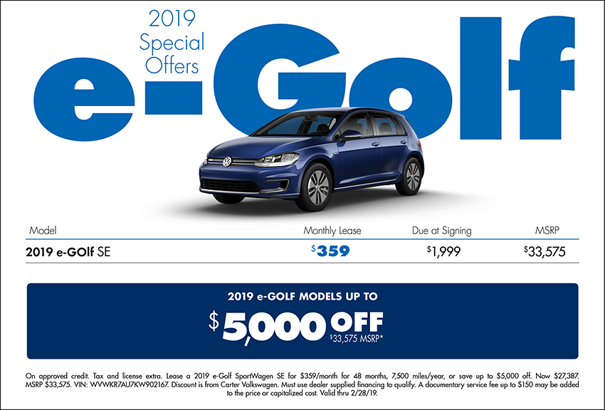 2018 Volkswagen e-Golf Sales Special in Seattle, WA