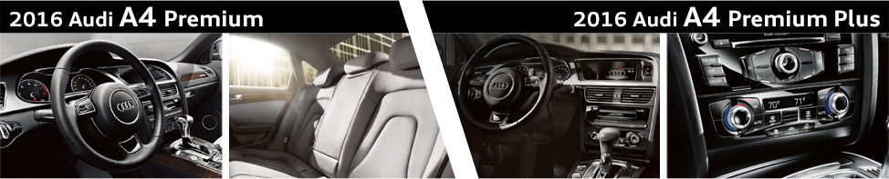 Compare 2016 Audi A4 Premium Vs Audi A4 Premium Plus Model Details
