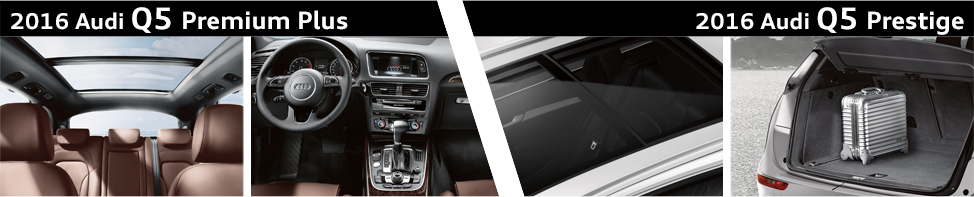 Audi Premium Plus Vs Prestige >> 2016 Audi Q5 Premium Plus Vs 2016 Audi Q5 Prestige Model