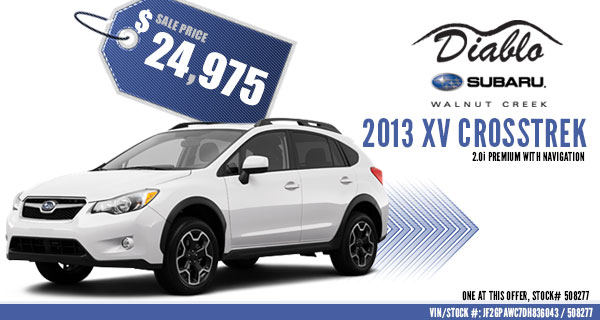 Concord New 2013 Subaru XV Crosstrek Premium Special Sales Offer serving Walnut Creek, California
