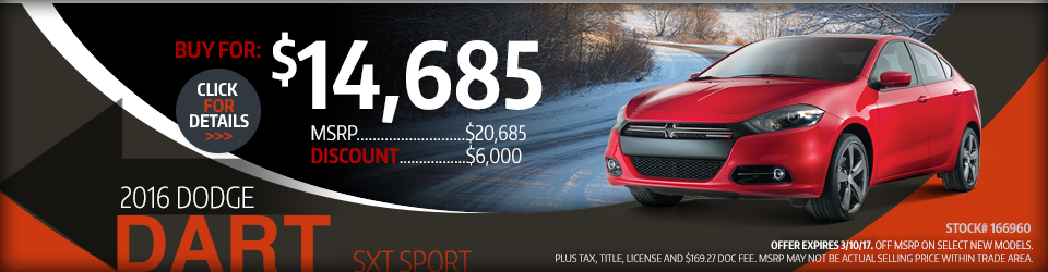 2016 Dodge Dart Sales Special in Glendale Heights, IL