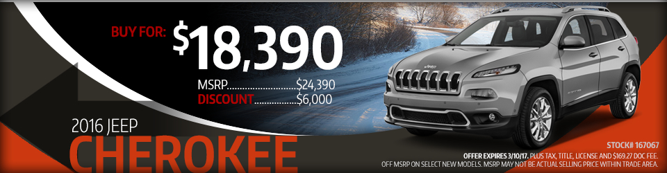 2016 Jeep Cherokee Sales Special in Glendale Heights, IL