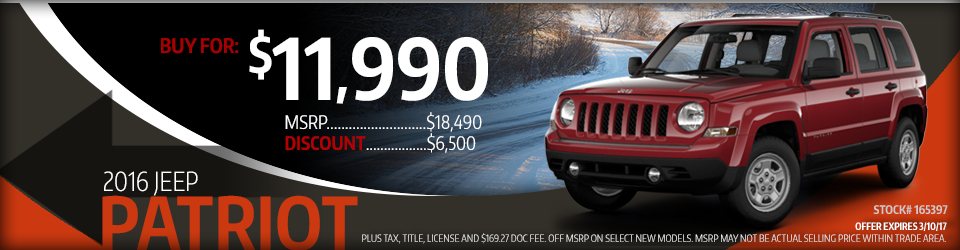 2016 Jeep Patriot Sales Special in Glendale Heights, IL