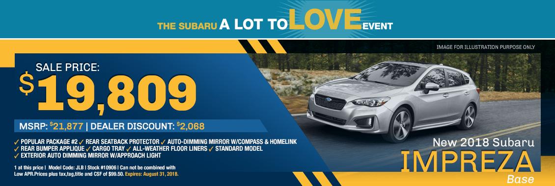 2018 Subaru Impreza Sales Lease Specials Harriman Tn