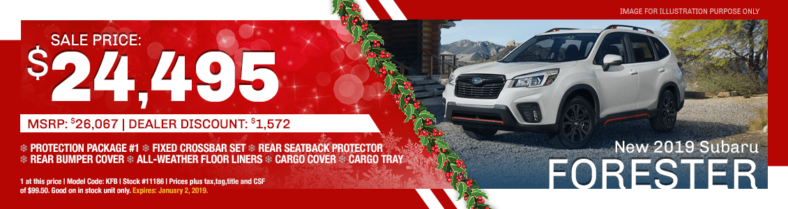Save On A New 2019 Subaru Forester with Special Discount Savings in Harriman, TN