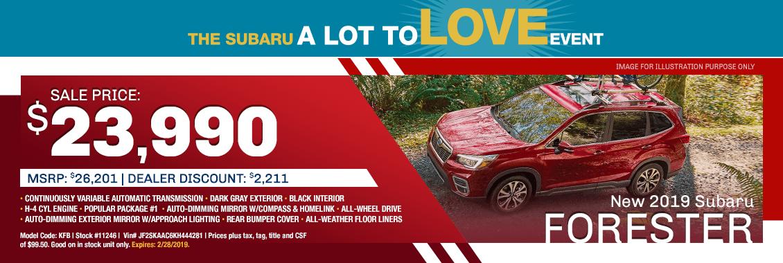 2019 Subaru Forester Sales Special in Harriman, TN
