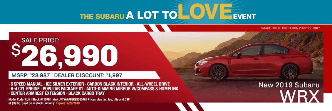 2019 Subaru WRX Purchase Special in Harriman, TN