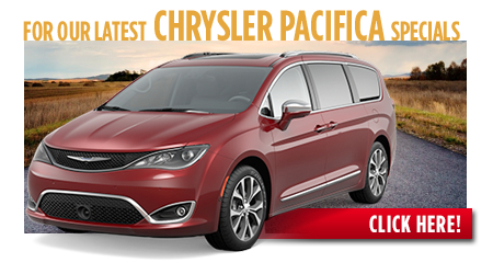 New Chrysler Pacifica Special Discounts for Purchase & Lease Offers serving Wichita, Dodge City & Emporia, KS