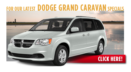 New Dodge Grand Caravan Special Discounts for Purchase & Lease Offers serving Wichita, Dodge City & Emporia, KS