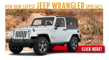 New Jeep Wrangler Special Discounts for Purchase & Lease Offers serving Wichita, Dodge City & Emporia, KS