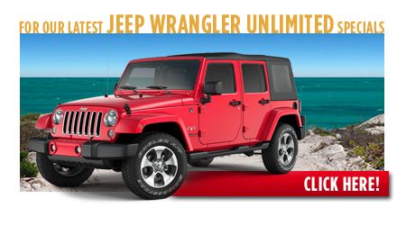 New Jeep Wrangler Unlimited Special Discounts for Purchase & Lease Offers serving Wichita, Dodge City & Emporia, KS