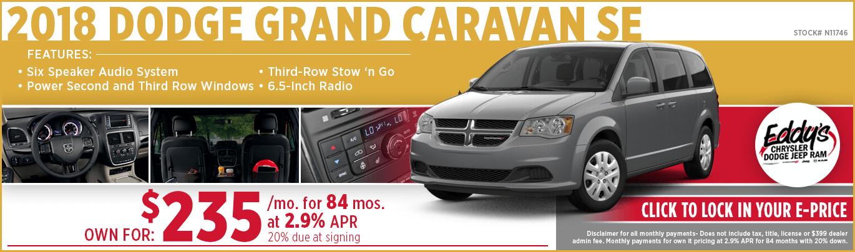 Save on a new 2018 Dodge Grand Caravan SE model at Eddy's CDJR in Wichita, KS