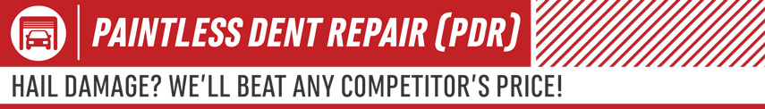 Learn about paintless dent repair at Eddy's Body Shop in Wichita, KSwhere we'll beat any competitor's price on hail damage