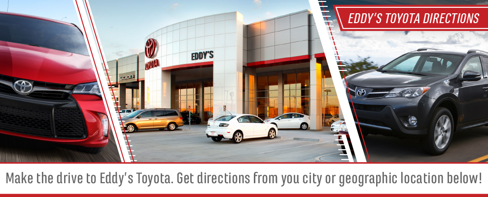 Get Directions to Eddy's Toyota in Wichita, Kansas