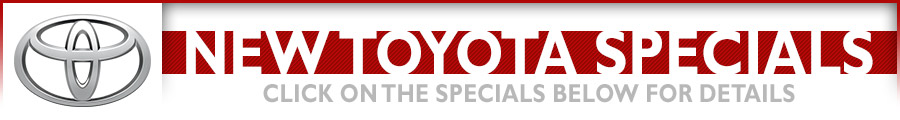 New Vehicle Special Offers available at Eddy's Toyota in Wichita, Kansas