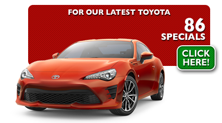New Toyota 86 Special Discounts for Purchase & Lease Offers serving Wichita, Dodge City & Emporia, KS