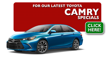 New Toyota Camry Special Discounts for Purchase & Lease Offers serving Wichita, Dodge City & Emporia, KS