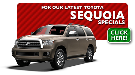 New Toyota Sequoia Special Discounts for Purchase & Lease Offers serving Wichita, Dodge City & Emporia, KS