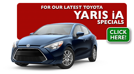 New Toyota Yaris IA Special Discounts for Purchase & Lease Offers serving Wichita, Dodge City & Emporia, KS