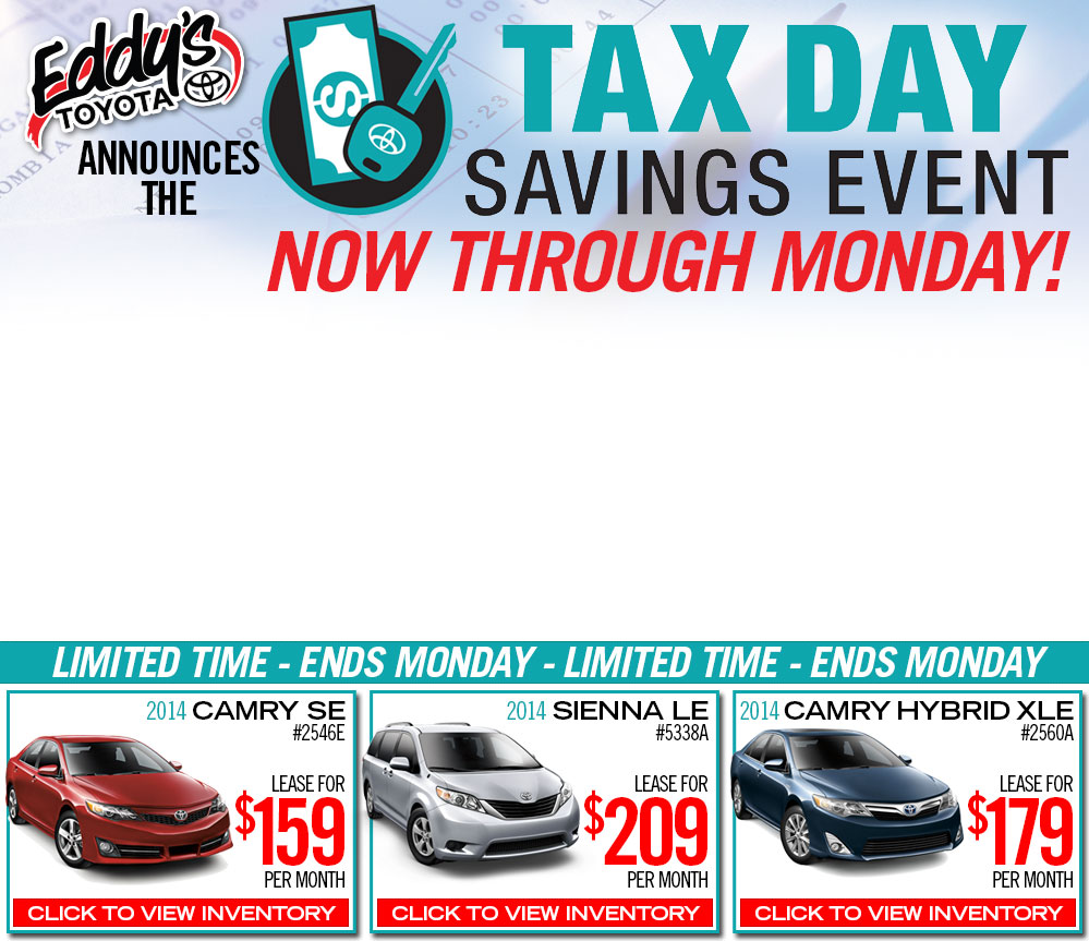 Toyota Event: Wichita Toyota Special Tax Day Savings Event
