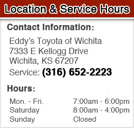 Eddy's Toyota Service Department Hours, Location & Contact Information