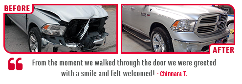 Eddy's Toyota of Wichita Before and After Body Shop