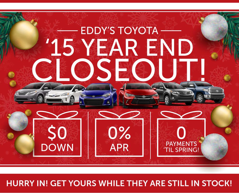 2015 Toyota Year End Closeout | Wichita, Ks