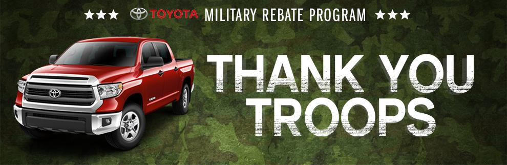 Eddy's Toyota Military Rebate Offers in Wichita, KS