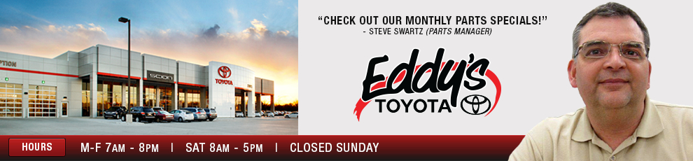 Wichita Toyota Parts & Accessories Center at Eddy's Toyota serving Kansas
