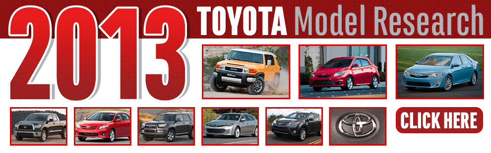 Click to View Our 2013 Toyota Model Information in Wichita, KS