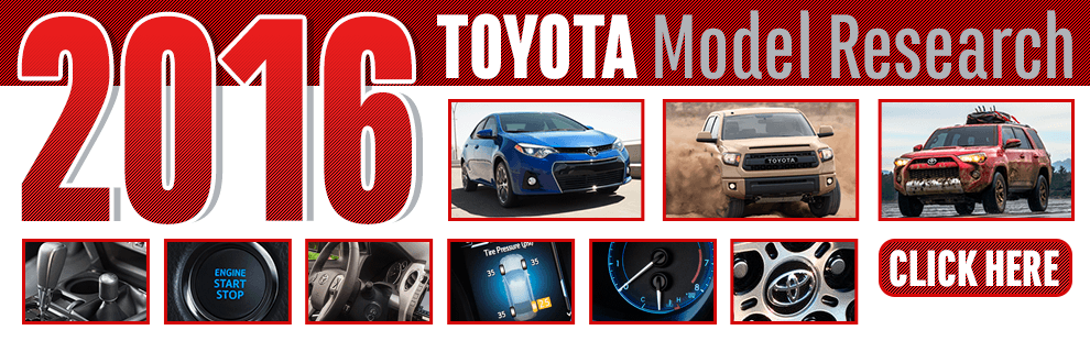 New 2016 Toyota Model Information in Wichita, KS