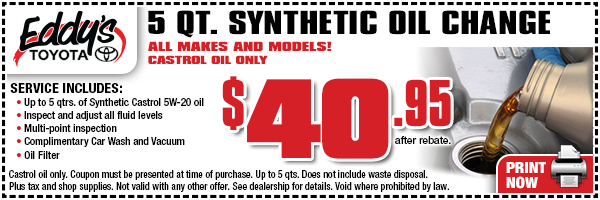 Synthetic Oil Change >> Toyota Synthetic Oil Change Service Coupon Wichita Derby Car