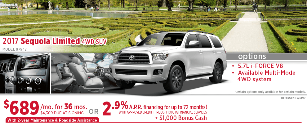 New 2017 Toyota Sequoia Specials Wichita Ks Suv