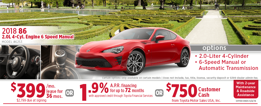 2018 Toyota 86 Finance or Lease Special in Wichita, KS