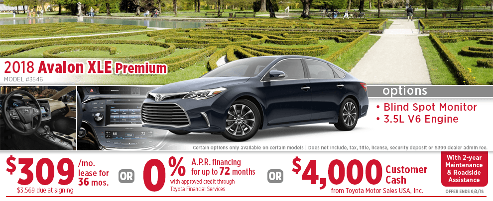 2018 Toyota Avalon XLE Premium Lease or Finance Special in Wichita, KS