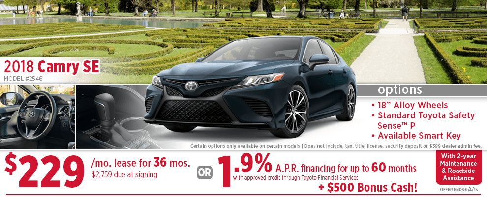 2018 Toyota Camry SE Lease or Low APR Special in Wichita, KS