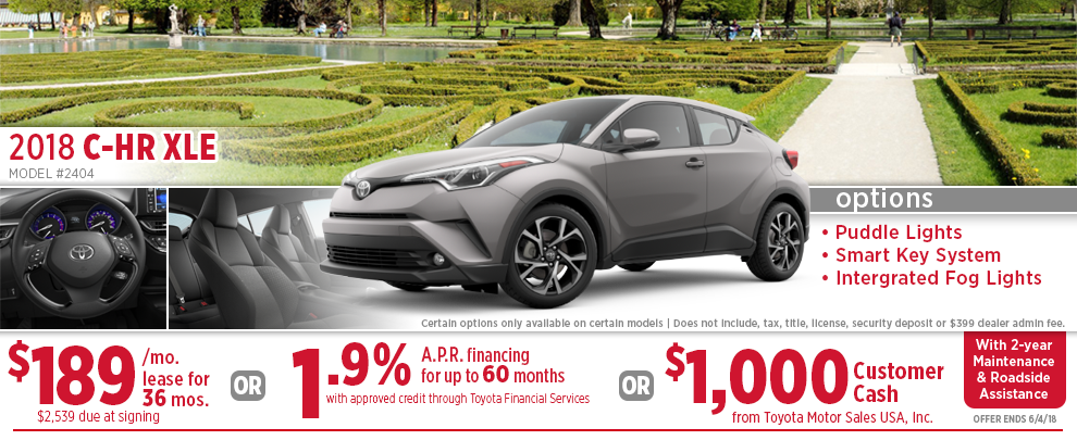 2018 Toyota C-HR XLE Low Payment Lease or Finance Special in Wichita, KS