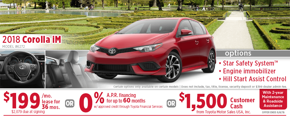 2018 Toyota Corolla iM Finance or Lease Special in Wichita, KS