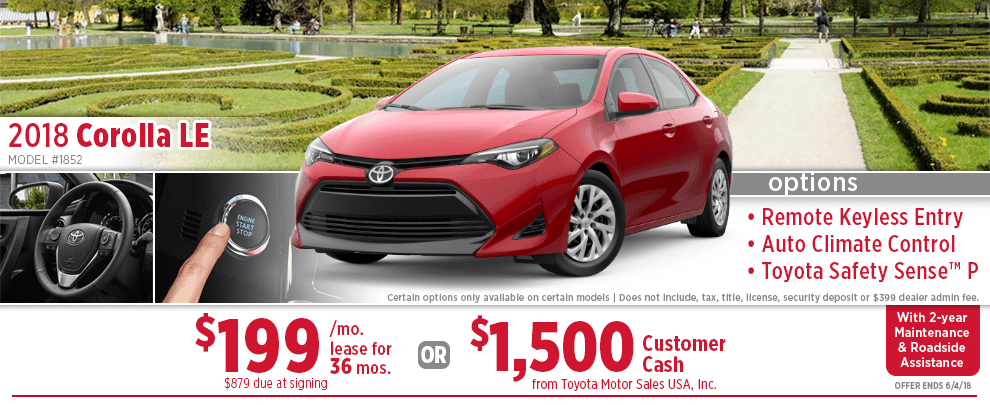 2018 Toyota Corolla LE Lease or Finance Special in Wichita, KS