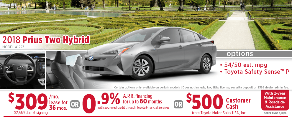 Toyota Finance Deals >> New Toyota Prius Specials Wichita Discount Vehicle Offers Lease