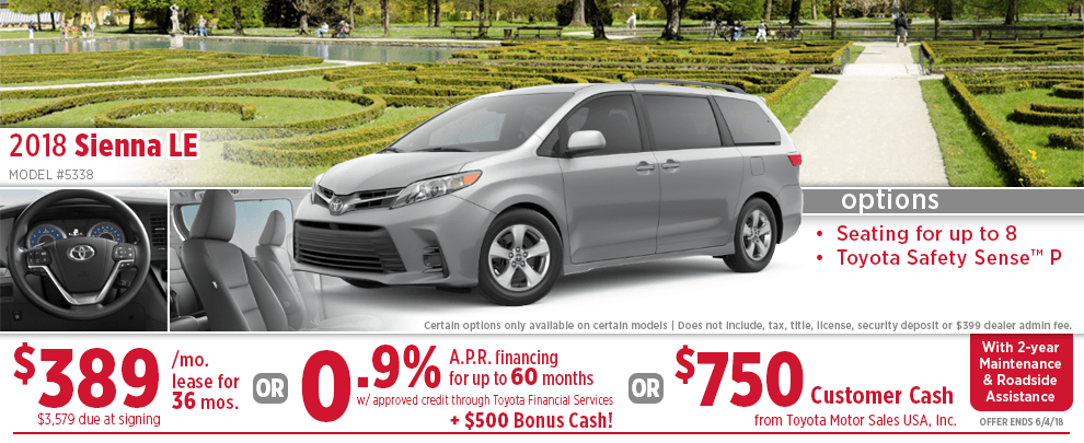 2018 Toyota Sienna LE Finance or Lease Special in Wichita, KS