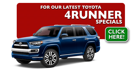 New Toyota 4Runner Special Discounts for Purchase & Lease Offers serving Wichita, Dodge City & Emporia, KS