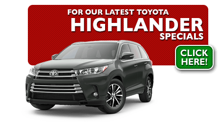 New Toyota Highlander Special Discounts for Purchase & Lease Offers serving Wichita, Dodge City & Emporia, KS