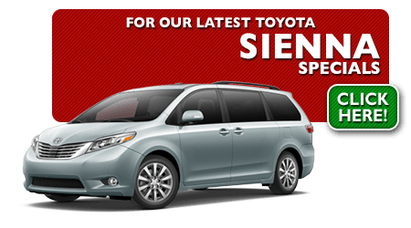 New Toyota Sienna Special Discounts for Purchase & Lease Offers serving Wichita, Dodge City & Emporia, KS