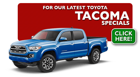 New Toyota Tacoma Special Discounts for Purchase & Lease Offers serving Wichita, Dodge City & Emporia, KS