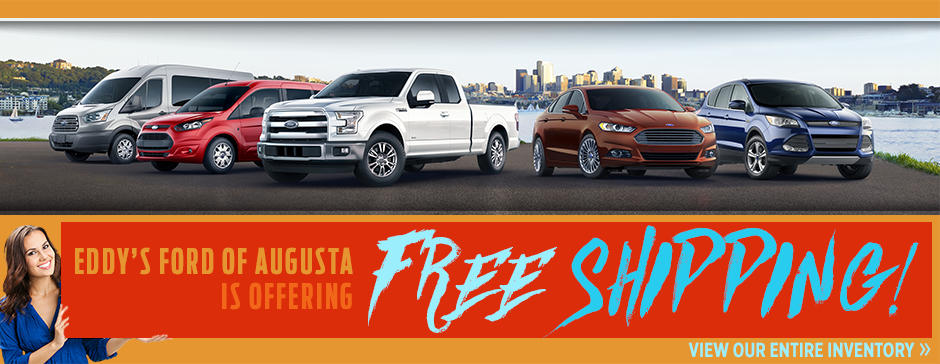 Free Shipping when you purchase a New Ford from Eddy's Ford in Wichita, KS