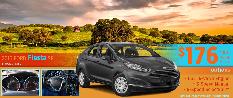 2016 Ford Fiesta SE Lease Special Serving McPherson, KS