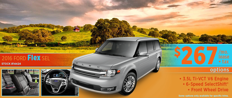2016 Ford Flex SEL Low Payment Lease Special Serving Winfield, KS
