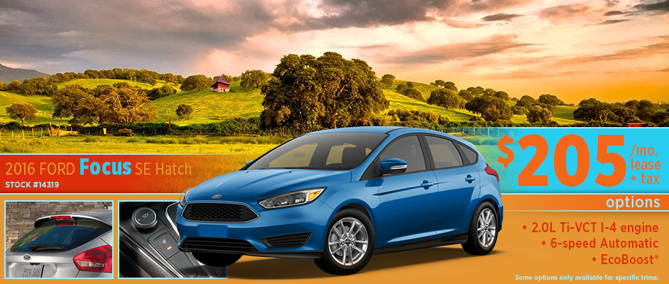 2016 Ford Focus SE Hatch Low Payment Lease Special Serving Salina, KS